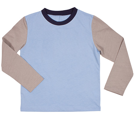 Crewneck long sleeved T-shirt